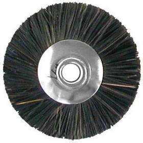 Šepetėlis šerinis su laikikliu vidutinio kietumo, 23 mm