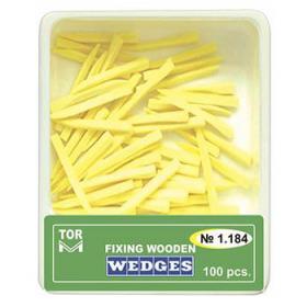 Mediniai kaiščiai geltoni, dydis S ilgi, 100 vnt.