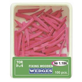 Mediniai kaiščiai rožiniai, dydis M ilgi, 100 vnt.