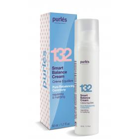 Purles 132 Kremas veidui, skirtas riebios mišrios odos priežiūrai, 50 ml