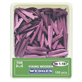 Mediniai kaiščiai violetiniai, dydis L ilgi, 100 vnt.