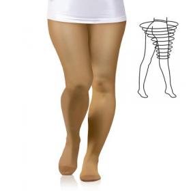 Medicininės tampriosios kompresinės pėdkelnės moterims, praplatintos ties šlaunimis ir klubais, II kompresijos klasė (23-32 mm Hg),  ūgis 1 (158-170), ELAST 0404 LUX MAX