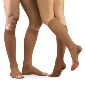 Medicininės tampriosios kompresinės kojinės iki kelių, nedengiančios pirštų, universalios, ELAST 0408 LUX