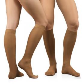 Medicininės tampriosios kompresinės kojinės iki kelių, dengiančios pirštus, universalios, ELAST 0401