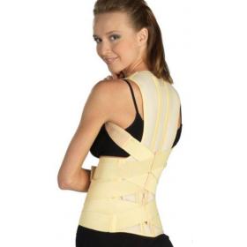 Tamprusis medicininis laikysenos koreguoklis (įtvaras) su standžiais formuojamaisiais įdėklais krūtininės stuburo dalies apatiniams slanksteliams ir juosmeninei daliai, ELAST 0109-01