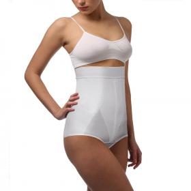 Tampriosios medicininės kelnaitės, skirtos dėvėti po gimdymo, su paaukštintu juosmeniu ir silikonine juosta, ELAST 9907-01 Sabina