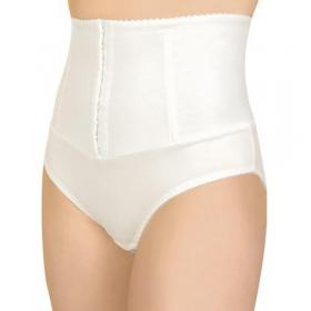Tampriosios medicininės kelnaitės, skirtos dėvėti po gimdymo, su vertikaliais korseto įdėklais, ELAST 0105 Evita