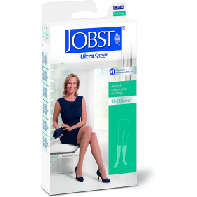 Medicininės tampriosios kompresinės kojinės iki kelių, plonos, dengiančios pirštus, JOBSTUltraSheer