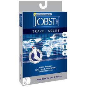 Medicininės tampriosios kompresinės kojinės kelionėms iki kelių, dengiančios pirštus, I (15-20 mmHg) kompresijos klasė, JOBST Travel Socks