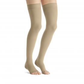 Medicininės tampriosios kompresinės kojinės iki kirkšnies, nedengiančios pirštų, JOBSTOpaque