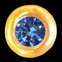 Dantų papuošalas Round Sapphire